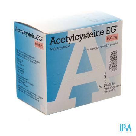 Afbeelding Acetylcysteïne EG 600 mg 60 Zakjes.