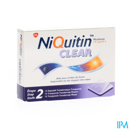 Farmawebshop - NIQUITIN CLEAR PATCHES 14 X 14 MG