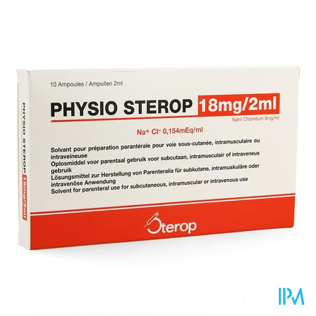 Physio Sterop Ampullen Inj 10 X 2 ml  -  Sterop