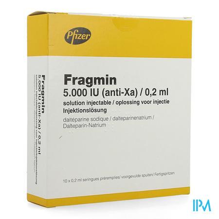 Fragmin Ser Sc 10x 5000u/0,2ml