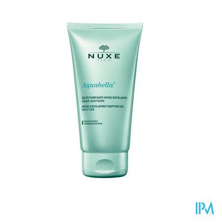 Afbeelding Nuxe Aquabella Micro-Exfoliërende Zuiverende Gel voor Dagelijks Gebruik voor Gemengde Huid Tube 150 ml.