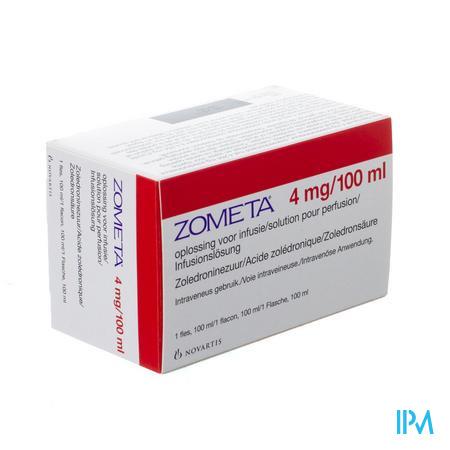 Zometa 4mg/100ml Opl Voor Infusie 100ml