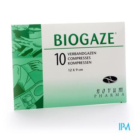 BIOGAZE ZALFKOMPRES 9X12CM 10