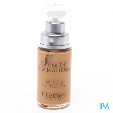 Afbeelding T.LeClerc Anti-Ageing Fond de Teint Fluide met SPF 20 Tint n°04 Beige Abricot Satiné Pompflacon 30 ml.