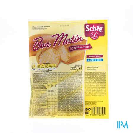 Schär Brood Bon Matin 4 stuk