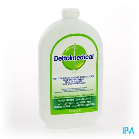 Farmawebshop - DETTOLMEDICAL CHLOROXYLENOL 4,9% 1000ML