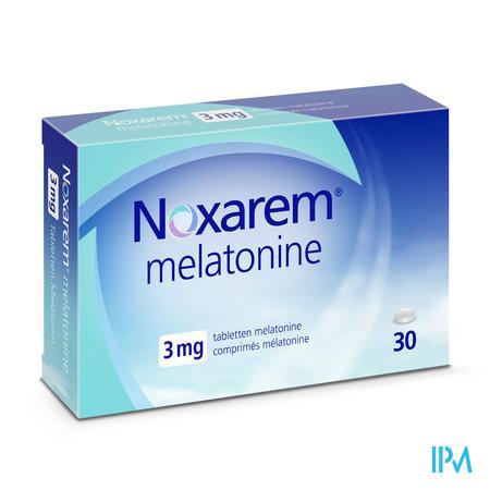 Afbeelding Noxarem Melatonine 3 mg - 30 Tabletten .