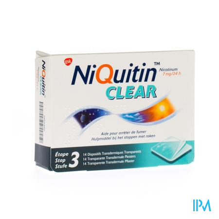 Niquitin Clear 7mg 14 patch