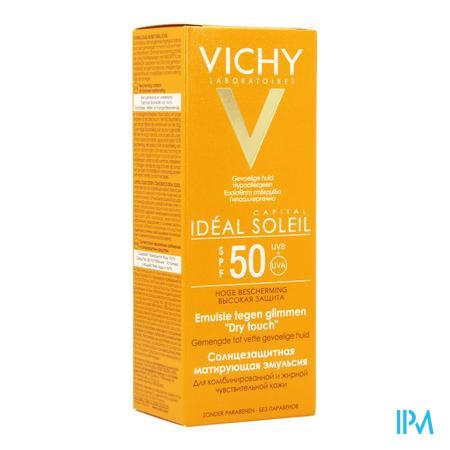 Afbeelding Vichy Ideal Soleil Zonne-Emulsie tegen Glimmen  met SPF 50 voor Gemengde tot Vette Huid 50 ml.