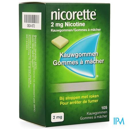 Nicorette Kauwgom 105x2 mg