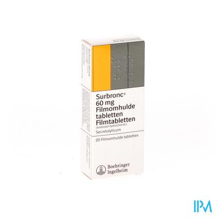Surbronc Comprimés Sec 20x60 mg