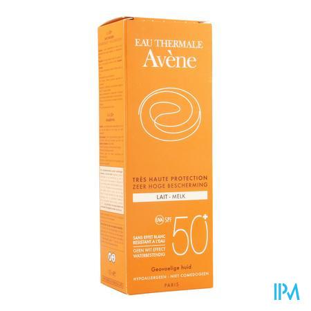 Afbeelding Avène Waterbestendige Zonnemelk met SPF 50+ zonder Wit Effect Tube 100 ml.