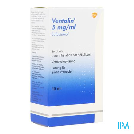 Ventolin Sol Neb 1 X 10ml 0,5%
