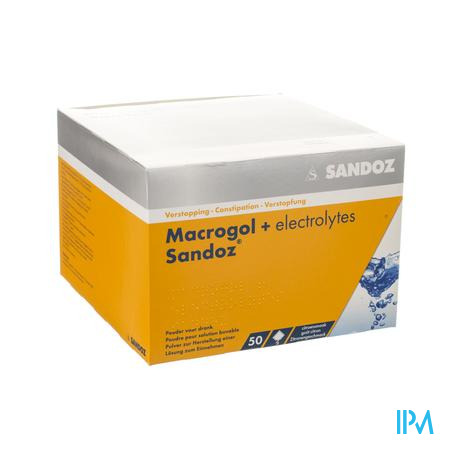 Macrogol + Electr Sandoz Poeder Ciroensmaak 50x13,7g