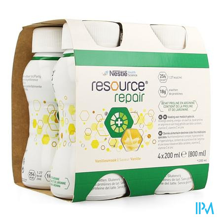 Resource Repair Vanille Fles 4x200 ml