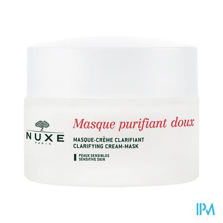 Afbeelding Nuxe Mild en Zuiverend Crèmemasker met Rozenblaadjes voor Gelaat en Hals voor Gevoelige Huid Pot 50 ml.