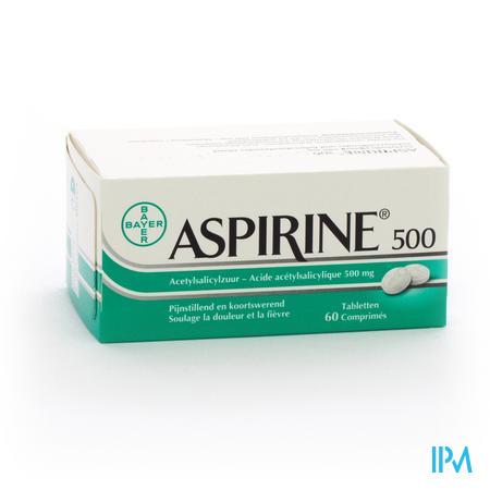 Aspirine 500mg Comp 60