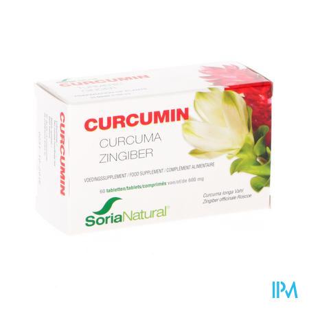 Afbeelding Soria Curcumin met Curcuma en Gember 60 Tabletten .