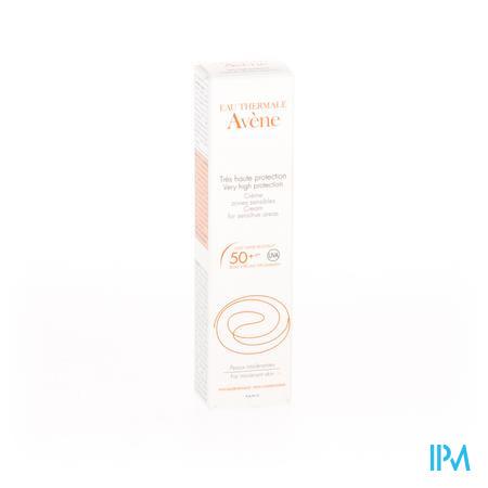 Avène Zonnecrème Gevoelige Zones Factor 50+ Tube 15 ml