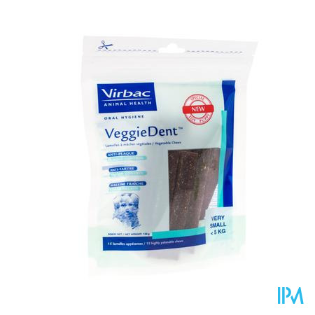 Veggiedent <5kg 15 chewing-gums