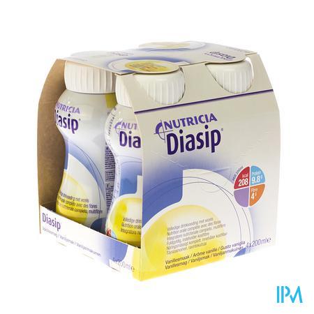 Farmawebshop - DIASIP VANILLE FLES 4X200ML NF