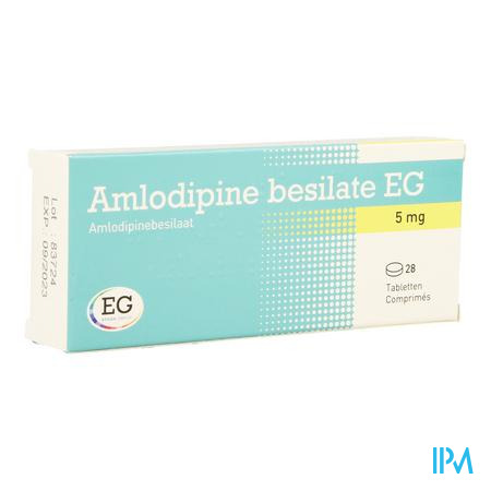 Amlodipine Besilate Eg Comp 28 X 5mg