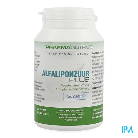Alfaliponzuur Plus V-caps 120 Pharmanutrics