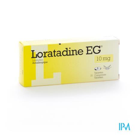 Loratadine EG 10mg 21 tabletten