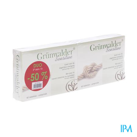 Grunwalder Sensitive Duo 2e -1/2 Prijs 2x60 tabletten