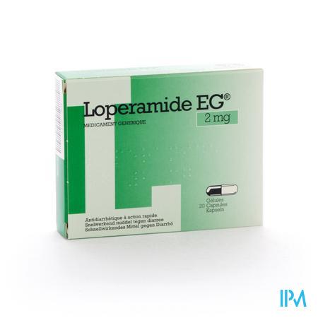 Loperamide EG 2mg 20 capsules