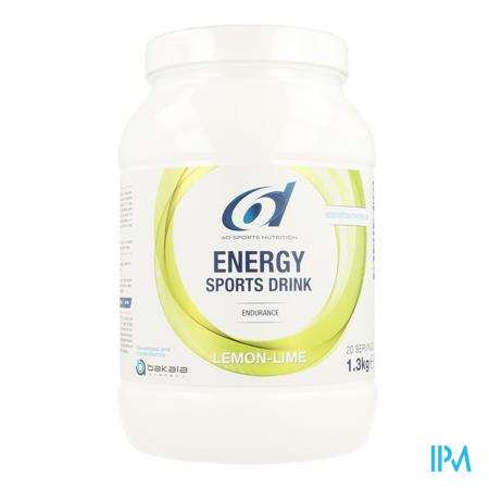 6d Sixd Energy Sports Drink Lemon Lime Pdr 1,3kg