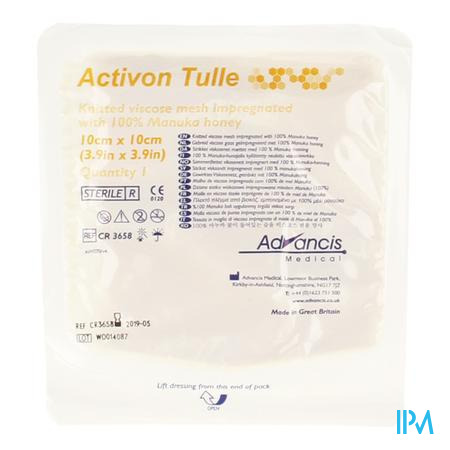 Activon Tulle Verband N/adh 10x10cm 1