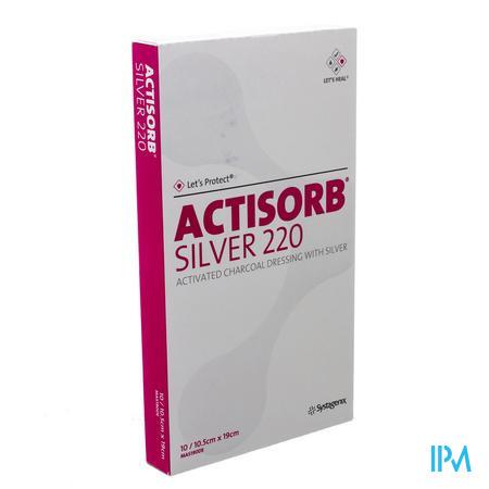 Actisorb Silver 220 Kp 19,0x10,5cm 10 Mas190de