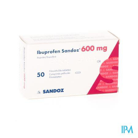Ibuprofen Sandoz 600mg Comp Pell 50x600mg
