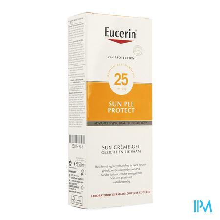 Afbeelding Eucerin Sun PLE Protect Waterbestendige Zonnecrème-Gel met SPF 25 bij Zonneallergieën voor Gelaat en Lichaam 150 ml.