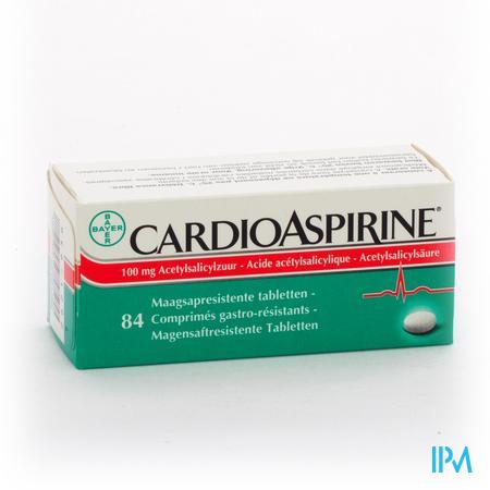 Farmawebshop - CARDIOASPIRINE MAAGSAPRESIST. TABL 84 X 100MG