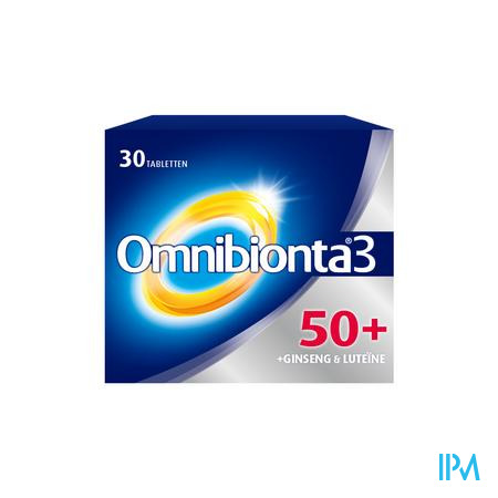 Afbeelding Omnibionta 3 50+ Vitamines en Mineralen + Ginseng en Luteïne 30 Tabletten.