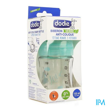 Dodie Zuigfles Initiation Glas Mix 150ml