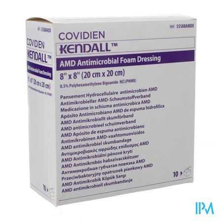 Kendall Amd Schuimverband Steriel 20x20cm 10 stuks