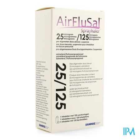Airflusal Sprayhaler 25mcg/125mcg Inhal 1x120