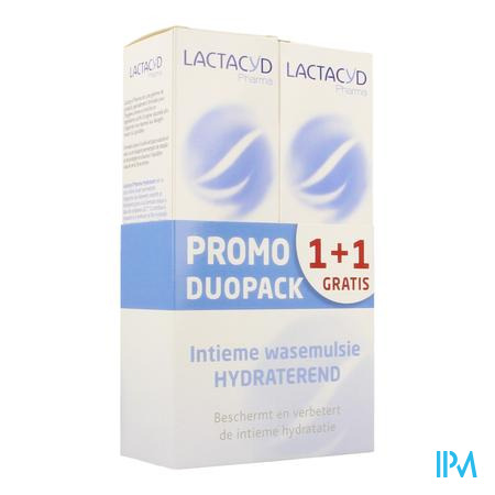 Lactacyd Pharma Hydraterend 2x250ml 1+1