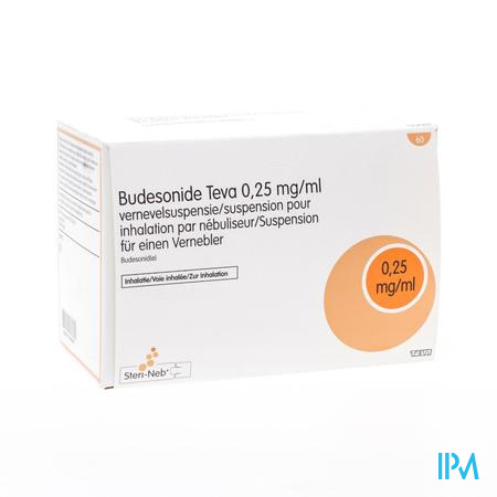 Budesonide Teva 0,250mg/ml Susp.nebul. 60x2ml