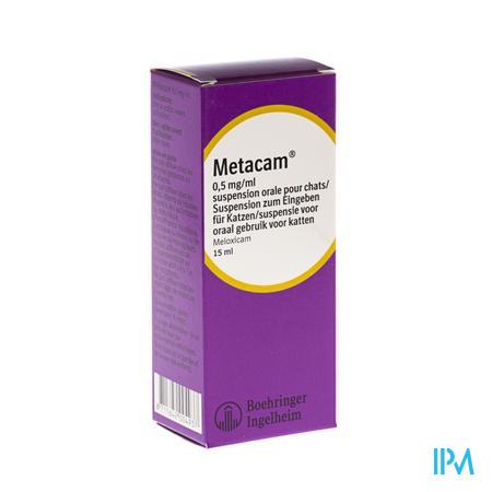 Metacam Susp Oral 0,5mg/1ml 15ml Katten