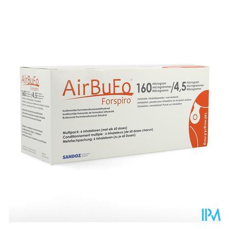 Airbufo Forspiro 160mcg/4,5mcg Inhal. 6 X 60dosis