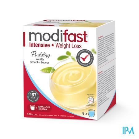 Modifast Intensive Pudding Vanille 9 x 47 g sachets