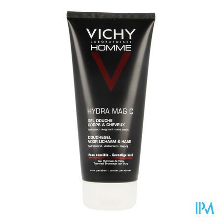 Afbeelding Vichy Homme Hydra Mag C Douchegel voor Lichaam en Haar 200 ml.