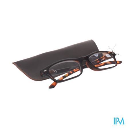 Pharma Glasses Leesbril Bruin +3,5 1 stuk