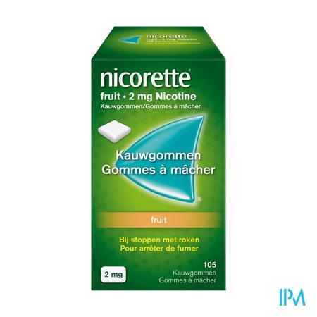 Nicorette Fruit Gomme Mach 105x2 mg