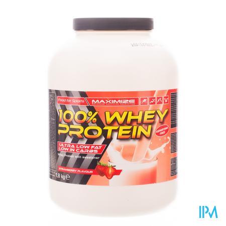Whey Protein 100% Aardbei 1,8kg