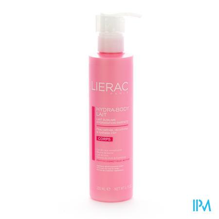 Afbeelding Lierac Hydra Body Lait Sublieme Melk voor Perfecte Hydratatie voor Lichaam Pompflacon 200 ml.